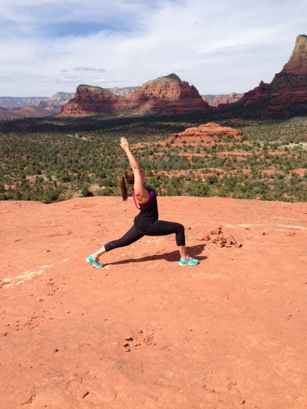 Practicing Warrior on Bell Rock